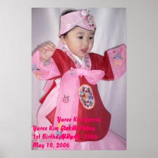 Yuree födelsedagaffisch poster