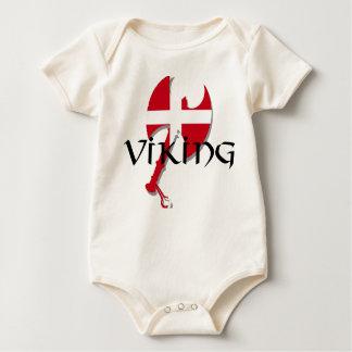 Yxa för danskaViking Danmark flagga Bodies För Bebisar