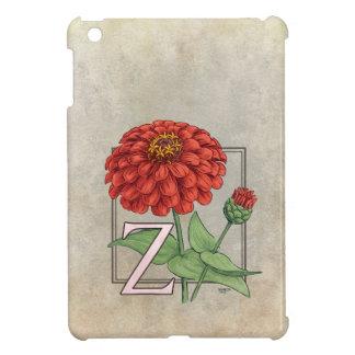 Z är för ZinniasblommaMonogram iPad Mini Mobil Skal