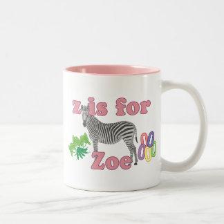 Z är för Zoe Två-Tonad Mugg