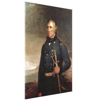 ZACHARY TAYLOR porträtt vid det Joseph Henry Bush Canvastryck
