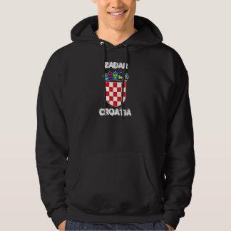 Zadar Kroatien med vapenskölden Sweatshirt Med Luva
