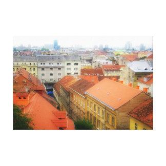 Zagreb Kroatien 109 Canvastryck