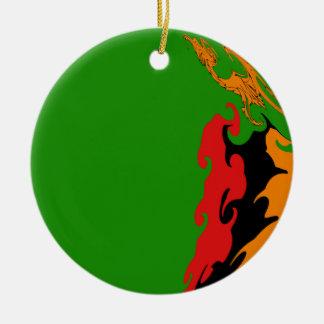 Zambia Gnarly flagga Julgransdekoration