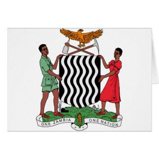 Zambia vapensköld hälsningskort