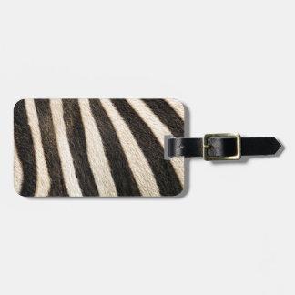 Zebra mönstrad bagage lappar för väskor