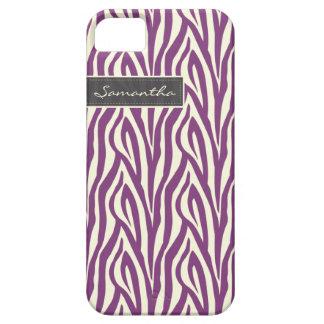 Zebra mönstrad Fodral-Kompis för iPhone 5 fodral