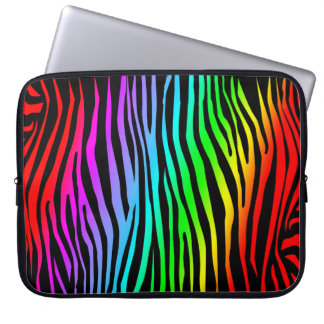 Zebra mönstrad i färg laptop datorfodral