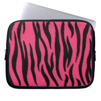 Zebra mönstrad laptop sleeve laptopskydd