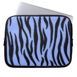 Zebra mönstrad laptop sleeve laptopskydd fodral