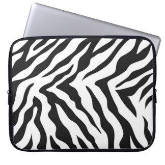 Zebra mönstrad laptop sleeve datorfodral