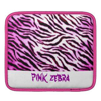 Zebra mönstrad laptop sleeve för shock rosa