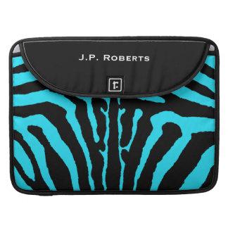 Zebra mönstrad Macbook för svart turkos Pro sleeve MacBook Pro Sleeves