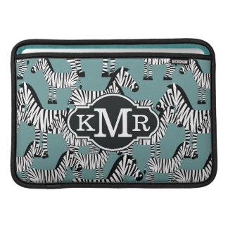 Zebra mönstrad | Monogram MacBook Air Sleeves