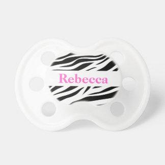 Zebra mönstrad napp för barn