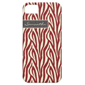 Zebra mönstrad (rött) Fodral-Kompis för iPhone 5 iPhone 5 Case-Mate Skydd