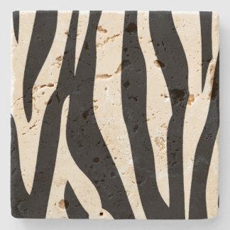 Zebra mönstrad stenkustfartyg stenglasunderlägg