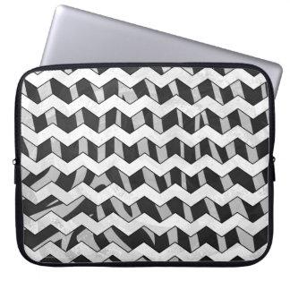 Zebra mönstrad svart och grå sparre laptopfodral