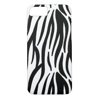 Zebra mönstrad vit och svart