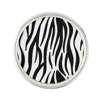 Zebra mönstrad vit och svart kavajnål
