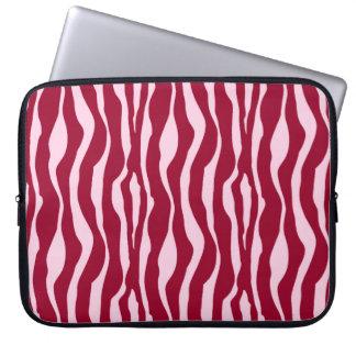 Zebra ränder - Burgundy och rosor Laptop Datorskydd