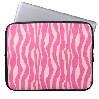 Zebra ränder - fuchsiaen och tänder - rosor datorfodral