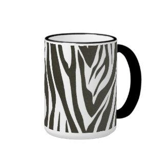 Zebra ränder i svartvitt ringer mugg