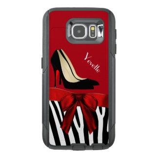 Zebra ränder och hälOtterbox Samsung S6 fodral