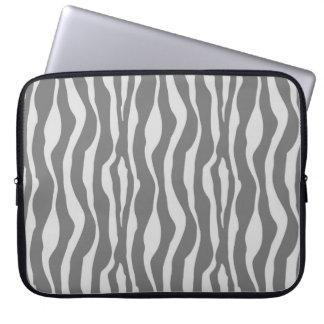 Zebra ränder - skuggar av grå färg laptop datorskydd