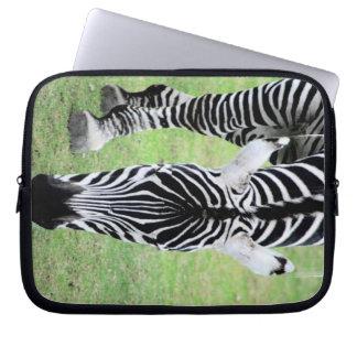 Zebra ränderelektronik hänger lös laptopskydd fodral
