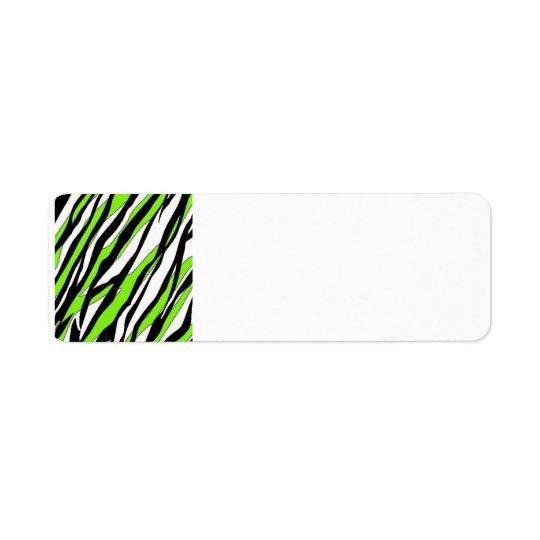 Zebra ränderlimefruktgrönt returadress etikett
