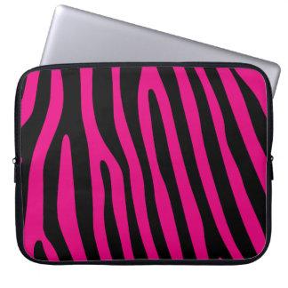 Zebra rändermönster + dina bakgrund & idéer laptopfodral