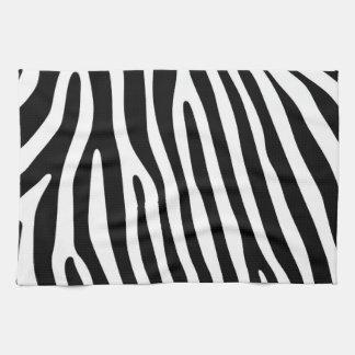 Zebra rändermönstersvart & vit + dina idéer kökshandduk