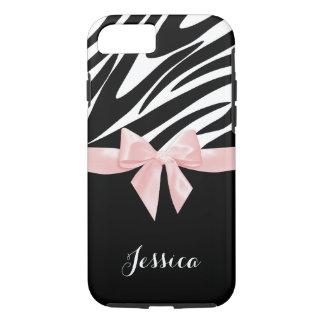 Zebra ränderrosapilbåge med namn