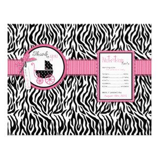 Zebra tryck- & barnvagnPopcornomslag Custom Flyer