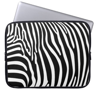 Zebra tryck laptop datorfodral