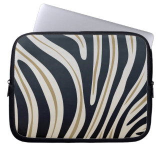 Zebra tryck laptop datorskydd