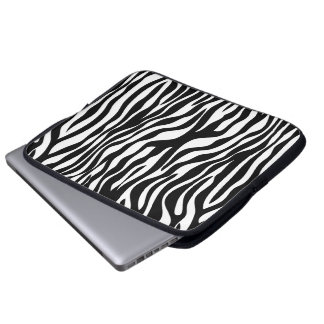 Zebra tryck laptop sleeve