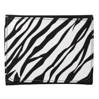Zebra tryck - liten läderplånbok