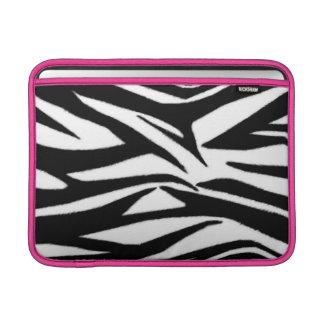 Zebra tryck & rosa Macbook luftsleeve MacBook Sleeve