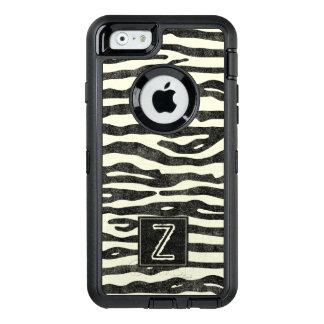 Zebra tryck svart Ecru görar randig den stilfulla OtterBox Defender iPhone Skal