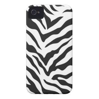 Zebra tryckblackberry boldfodral iPhone 4 Case-Mate fodral