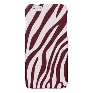 Zebra tryckfodral som är rött