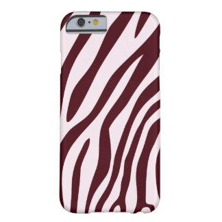 Zebra tryckfodral som är rött barely there iPhone 6 skal