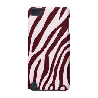 Zebra tryckfodral som är rött iPod touch 5G fodral