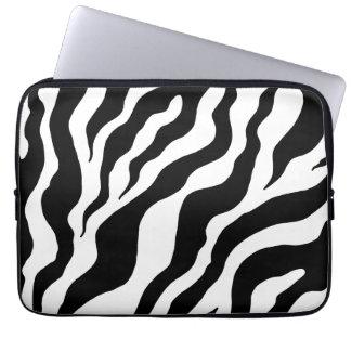 Zebra trycklaptop sleeve datorfodral