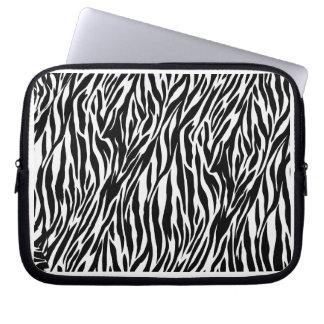 Zebra trycklaptop sleeve laptopfodral