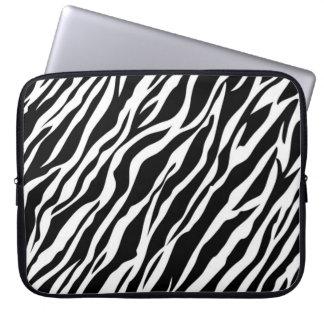 Zebra trycklaptop sleeve laptopskydd