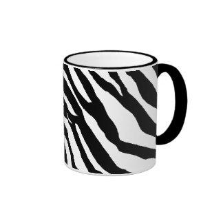 Zebra tryckmönster ringer mugg