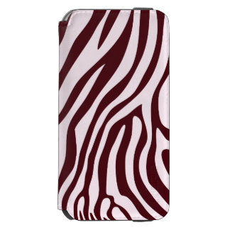 Zebra tryckplånbok som är röd